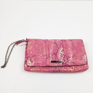 Kenneth Cole Reaction Clutch Purse Wristlet Pink